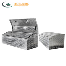 Aluminum Checkplate Truck Tool Box For Ute tray