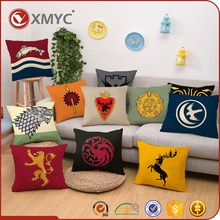 Sublimation Printed Game of Thrones Pillow Case Set Wholesale Custom Sofa Cushion Covers
