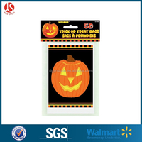 2016 Printed Cello Candy Bag - Halloween Pumpkin