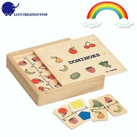 Kids Wooden Fruits and Veggie Dominoe Toy