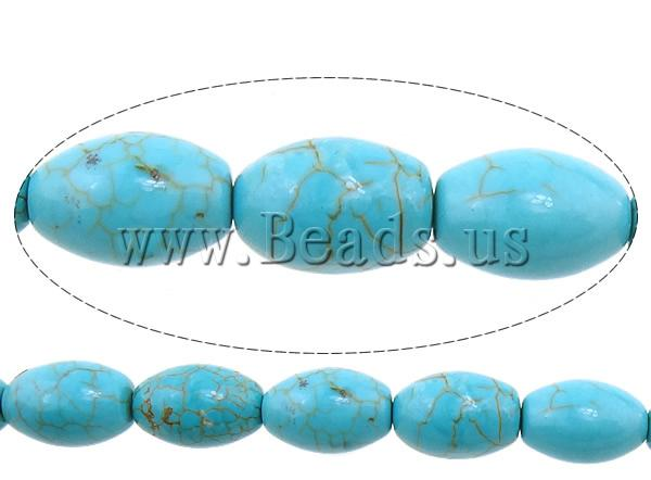 Free shipping!!!Turquoise Beads,2013 fashion women, Natural Turquoise, Oval, blue, 12x8mm, Hole:Approx 1mm, Length:15.5 Inch