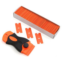 Glue film Scraper Removal Tool +100 1.5'' Plastic Double Edged Blades Hand Set
