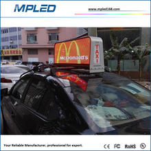 Dual Sides Outdoor Full Color Taxi LED Display Programmable Ip65 p4 taxi led display Mpled IP67 Waterproof outdoor