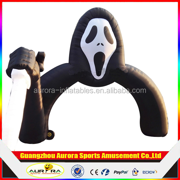inflatable entrance gate horrible skull arch for Halloween party decoration