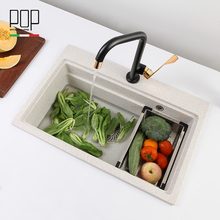 Single Bowl Artificial Hard Stone Granite Sink For Kitchen
