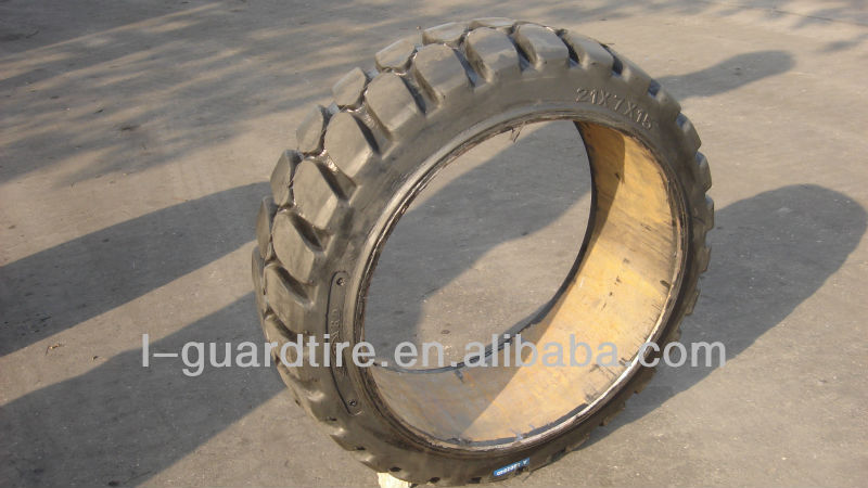 21x9x15 press on band solid tire