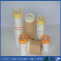 Crepe paper rubber adhesive masking tape and door protective film