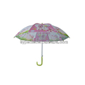 Transparent Stick Umbrella kids umbrella PVC umbrella