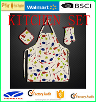 WALMART and BSCI new design kitchen apron with printed promotion uniforms