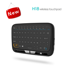 2017 Cheapest H18 Wireless 2.4 G Portable Mini Keyboard With Full Touchpad Air Mouse for Windows Android/Smart TV/PVD