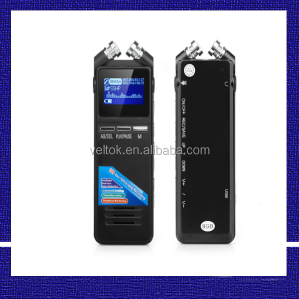 369 hours long time digital voice recorder with external microphone