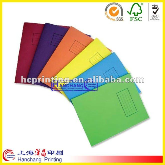 2012 High Quality hardcover school exercise book