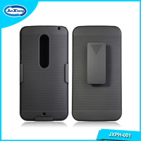 Popular hard plastic stand phone case for Motorola x style/xt 1570 with kickstand & belt clip