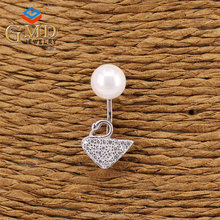 Free sample customized gift promotional shell pearls wholesale odd earrings