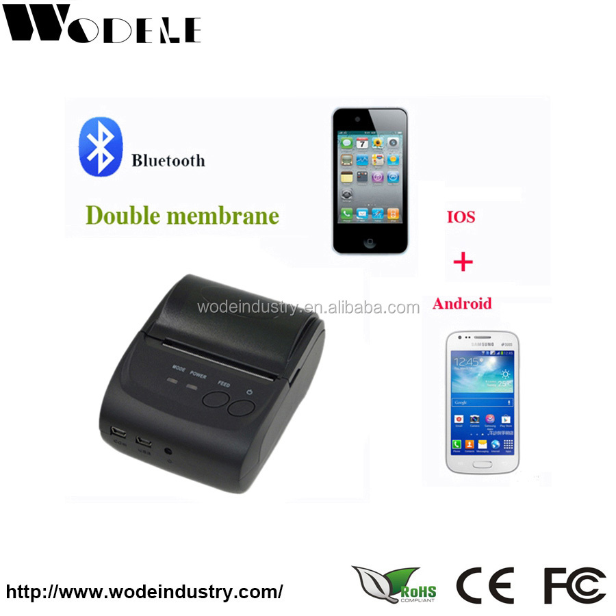 Mobile Ticket Printer support android,symbian,java etc WD-58GL