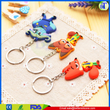 Wholesale rabbit soft pvc 3D cartoon key chain