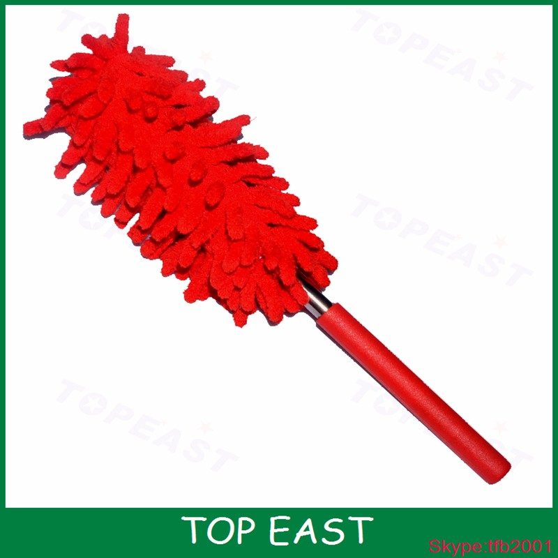 Red Color Telescoping Microfiber Duster Extendable Cleaning Dust Car Home Office Tool