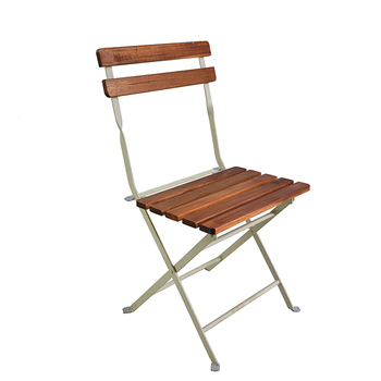 Cheap Wooden Outdoor Garden French Folding Bistro Chair