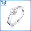 Flower shape jewelry findings adjustable jewelry ring finding