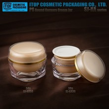 new 2017 inventions plastic mason jars wholesale SJ-KA 30g 50g PS plastic container jar custom cosmetic containers for creams