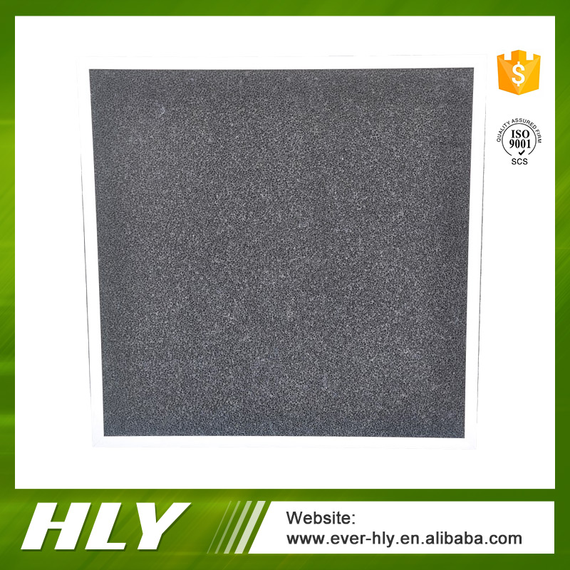 Hydroponics odor removal activated fiber spray booth carbon filter