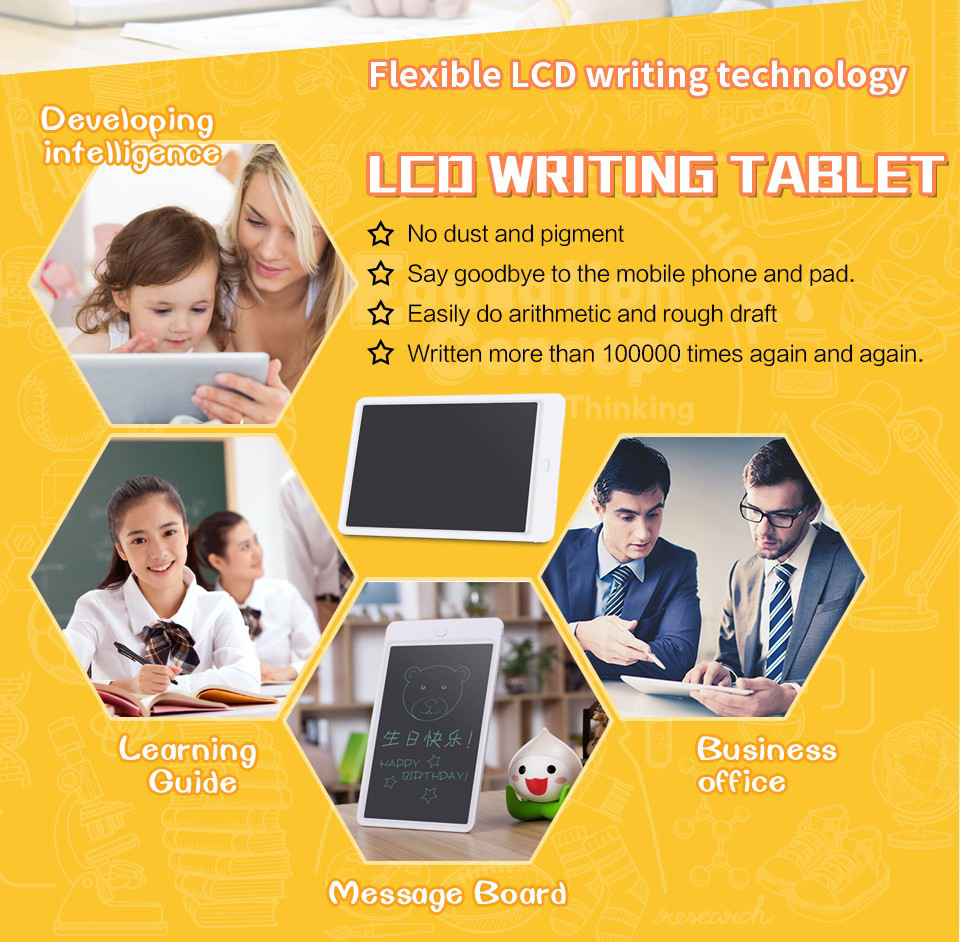 Newest Environmental-friendly 10 inch memo pad LCD Writing Tablet Pad, Kids and Business Durable Writing Table