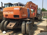 10 Ton EX100WD-2 Used Hitachi Wheel Excavator From Japan Original