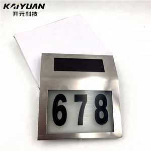 New coming latest Wall Doorplate solar house number light solar light