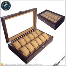 PW069 12 Slots Hot Sell Wooden Painting Packaging Watch Box with Pillow