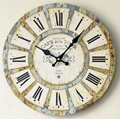 Silent Wooden Vintage Design Wall Clock for Home Decoration