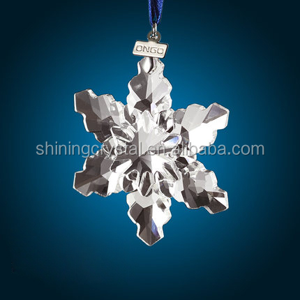 various shape crystal snowflake for Christmas ornament decoration