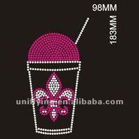 Sweet ice cream rhinestone design