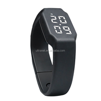 3D silicone waterproof smart usb bracelet pedometer watch with calories tracker and mute alarm colock