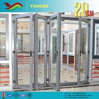 Entry Showroom Door Glass Inserts Metal Frame