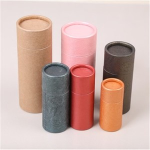 paper recycle cosmetic empty lipstick tube/packaging/bottle