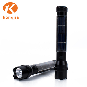 High Power Ultra Bright Rechargeable Emergency Portable Phone Charger Price Solar Torch
