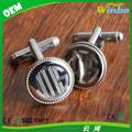 Polished Round Engraved Cufflinks