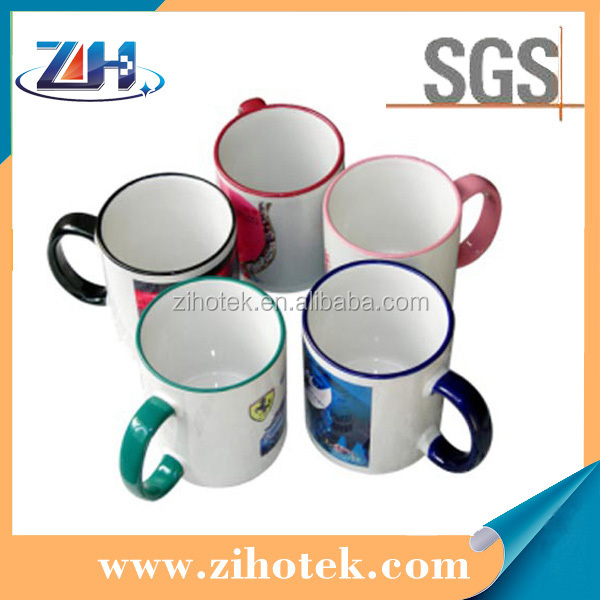 11oz sublimation border color mug photo cups prinitng edge color choose