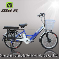 lithium battery electric bicycle with a strong rear shilf electric bike for cargo