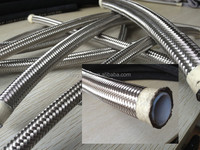 Smooth Bore Or Convoluted Teflon PTFE Hose/SS304 Braided Flexible Teflon PTFE Hose