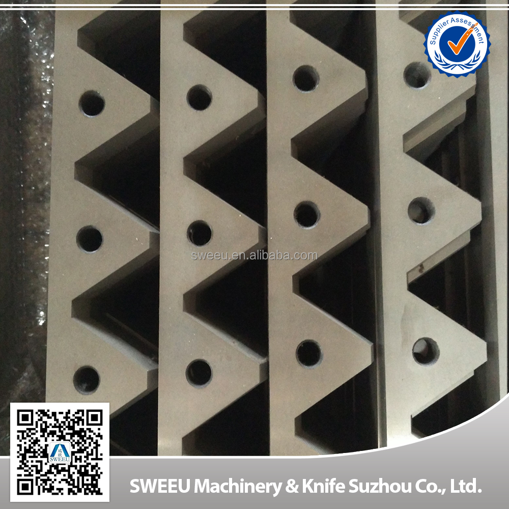 Customized cutting blades/knives for copper cables/plastic