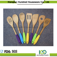 Manufactory wholesale bamboo utensils set, hot sale bamboo utensils set, high quality promotional bamboo utensils set