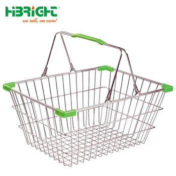 zinc or chromed retail store wire mesh metal shopping basket