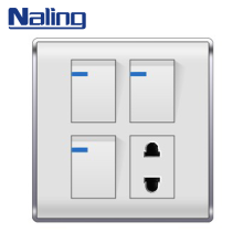 Naling Most Popular Items Electric 3 Gang Wall Switch And 1 Way Socket For Household