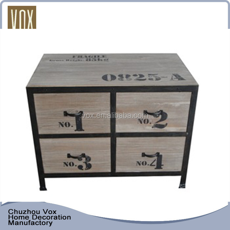 Chinese classic solid furniture wooden bed sideboard