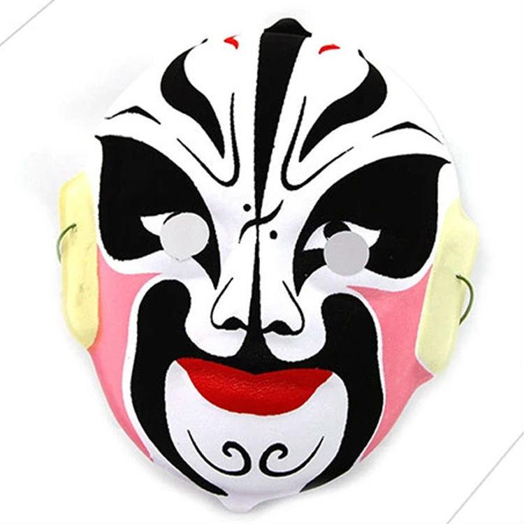 Flocking Peking Opera Mask Chinese Face Changing Props Masks Random