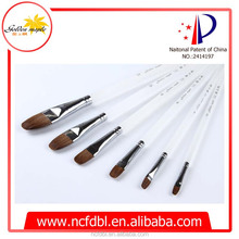 New products sable hair artist brush set acrylic oil painting with PMMA Handle