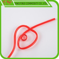 plastic red heart drinking straw logo can customized