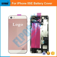 For IPhone 5SE A Quality Full Complete Housing Back Metal Chassis Middle Frame Battery Cover Door assembly with parts