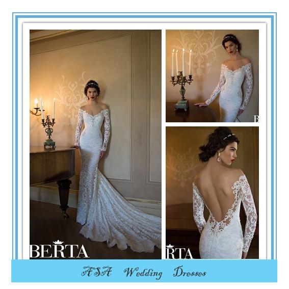Western Style Sexy Mermaid Wedding Dress For Fat Woman Berta Long